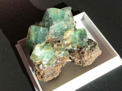 Rogerly Mine Fluorite Specimen - Blue Green Crystals