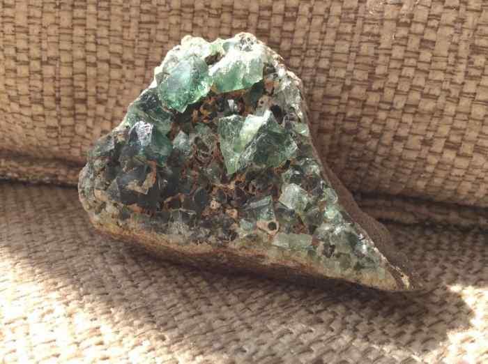 Rogerly Mine Fluorite Specimen On Matrix Blue Green Crystals Rare